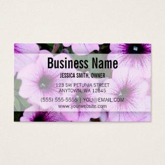 Purple Petunia Flowers Business Card