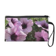 Purple Petunia Wristlet