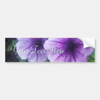 Purple Petunias Bumper Sticker