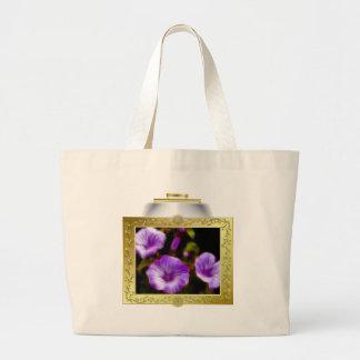 Purple Petunias in Lighted Frame Bag
