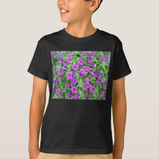 Purple Petunias Kids Dark T-Shirt