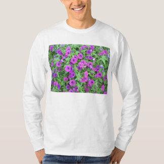 Purple Petunias Mens Long-Sleeve T-Shirt