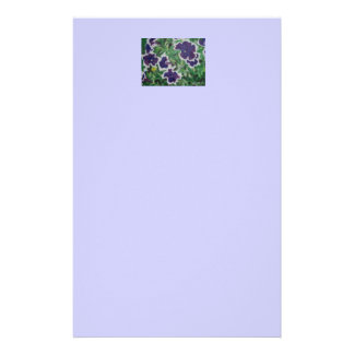 purple petunias painting by Gwen Billips Custom Stationery