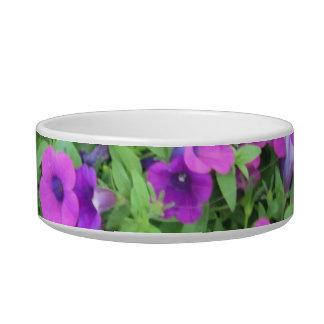 Purple Petunias Pet Bowl