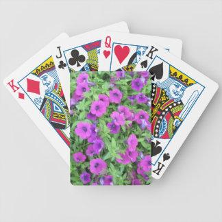 Purple Petunias Playing Cards