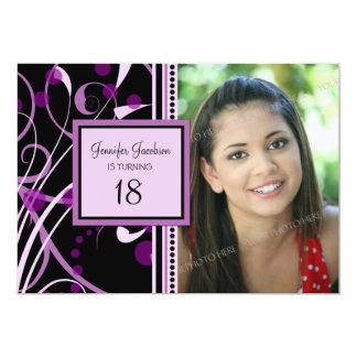 Purple Photo 18th Birthday Party Invitations