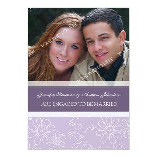 Purple Photo Engagement Announcement Cards