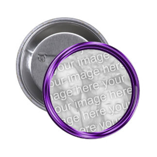 purple photo frame 2 inch round button