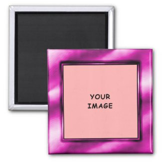 Purple Photo Frame Magnet magnet