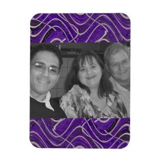 purple photo frame magnet