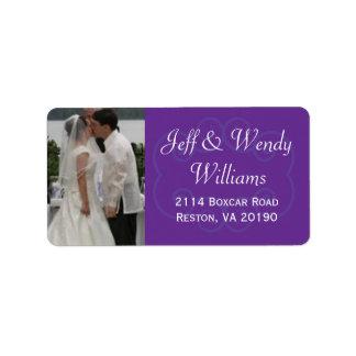 Purple Photo Labels