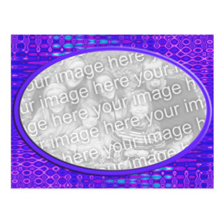 purple photoframe postcard