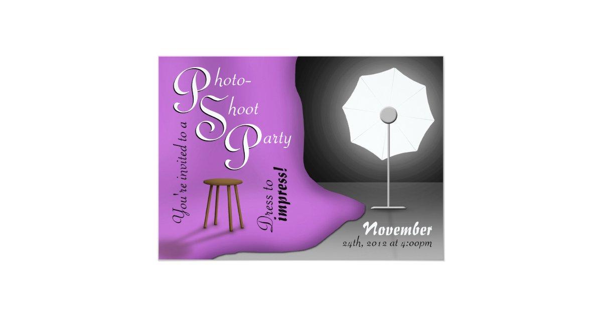 Purple Photoshoot Party Invitations   Zazzle.com