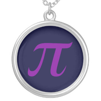 Purple Pi Necklace