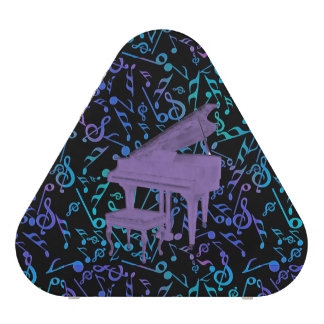 Purple Piano and Music Notes Bluetooth Speaker