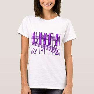 Purple Piano Keyboard Music Notes T-Shirt