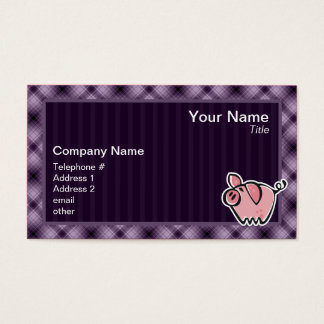 Purple Pig Business Card