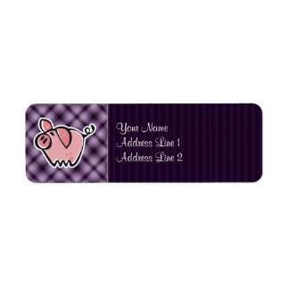 Purple Pig Custom Return Address Label