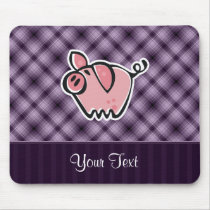 Purple Pig Mouse Pad