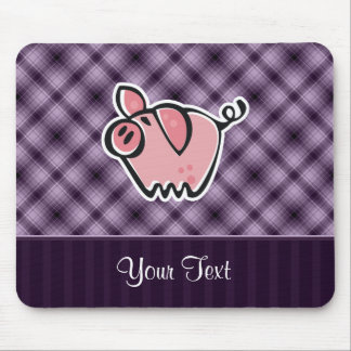 Purple Pig Mouse Pad