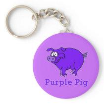 Purple Pig on Apparel, Mugs, Baby Shirts Keychain