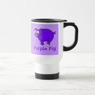 Purple Pig on Apparel, Mugs, Baby Shirts Travel Mug
