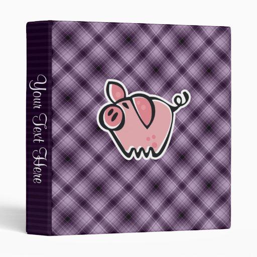 Purple Pig Vinyl Binder