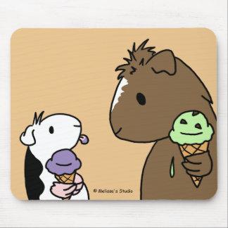 Purple Piggy Ice Cream Mouse Pad