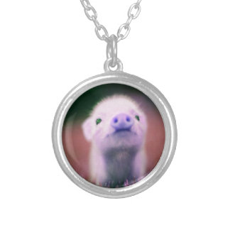 Purple Pigsy Silver Plated Necklace