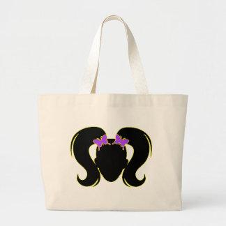 Purple Pigtails Canvas Bag