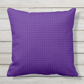 Purple Pin Dot Outdoor Throw Pillow