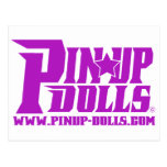 Purple Pin Up Doll's Post Cards