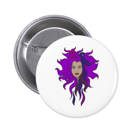 Purple Pinback Button