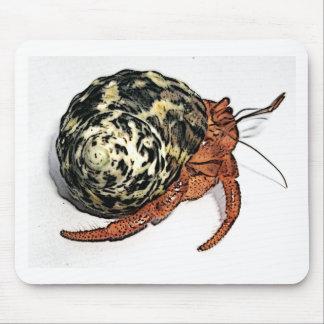 Purple Pincher Hermit Crab Design Mouse Pad