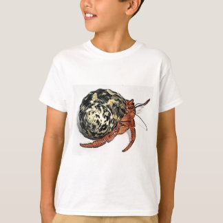 Purple Pincher Hermit Crab Design T-Shirt