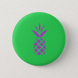 Purple pine apple in green. button