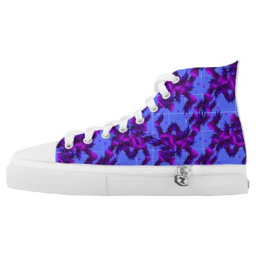 Beach Themed Purple Pineapple High Tops Shoes