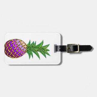 Purple Pineapple Luggage Tag