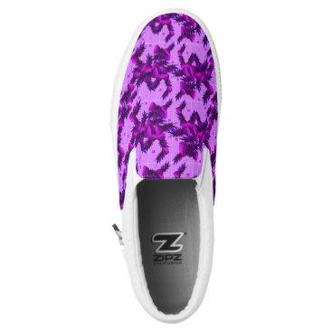 Purple Pineapple Slip Ons