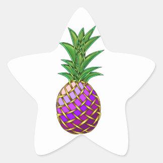 Purple Pineapple Star Sticker