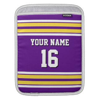 Purple Pineapple Wt Team Jersey Custom Number Name iPad Sleeve