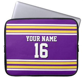 Purple Pineapple Wt Team Jersey Custom Number Name Laptop Sleeve