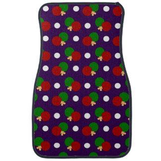 Purple ping pong pattern car floor mat