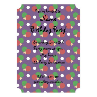 Purple ping pong pattern invite