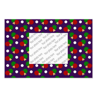 Purple ping pong pattern photograph