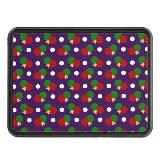 Purple ping pong pattern hitch cover