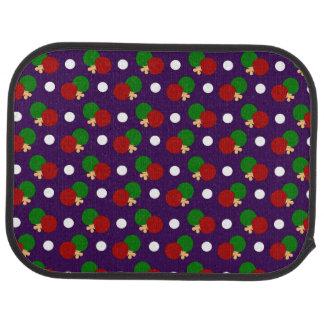 Purple ping pong pattern floor mat