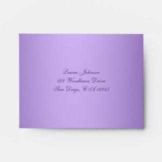 Purple, Pink A2 Return Address Envelope for RSVP's