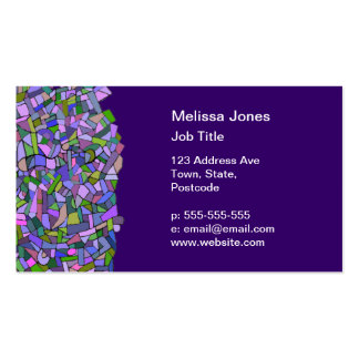 Purple Pink Abstract Mosaic Pattern Business Cards
