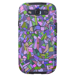 Purple Pink Abstract Mosaic Pattern Galaxy SIII Covers